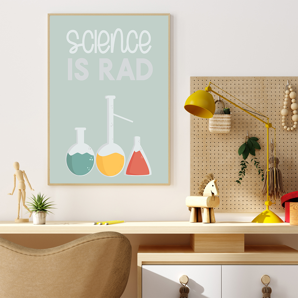 Science is Rad printable poster