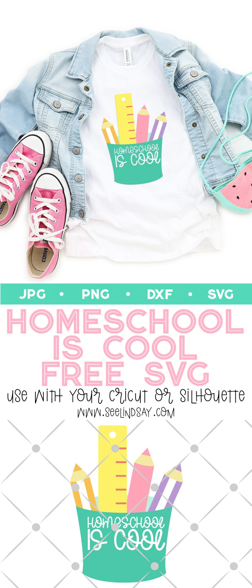 how to make a homeschool shirt with free svg file