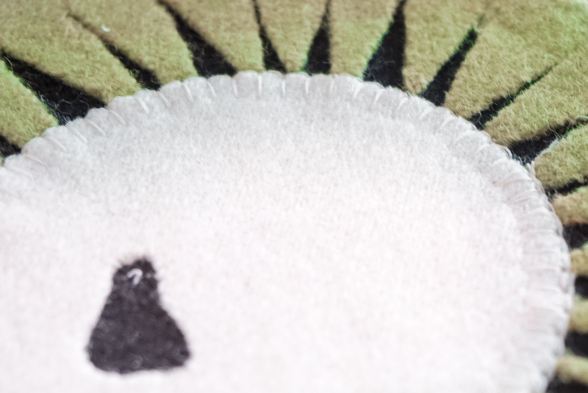 applique stitch on felt