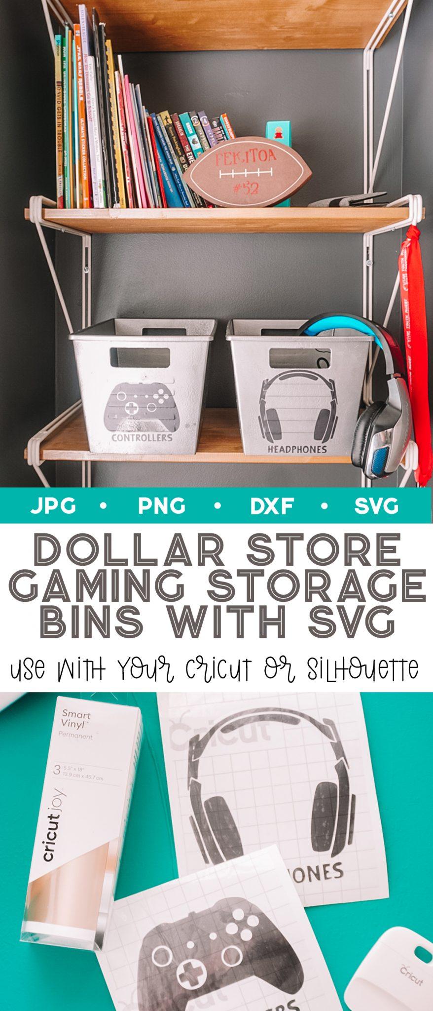 cricut dollar store organization