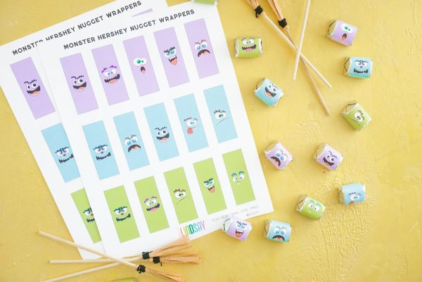 printable candy wrappers for halloween