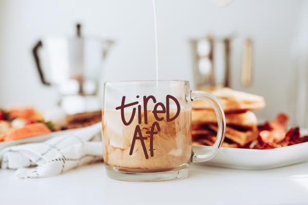 tired af svg file on coffee mug