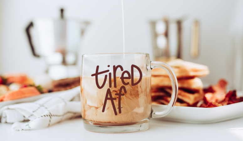 Free Coffee SVG Files – Tired AF