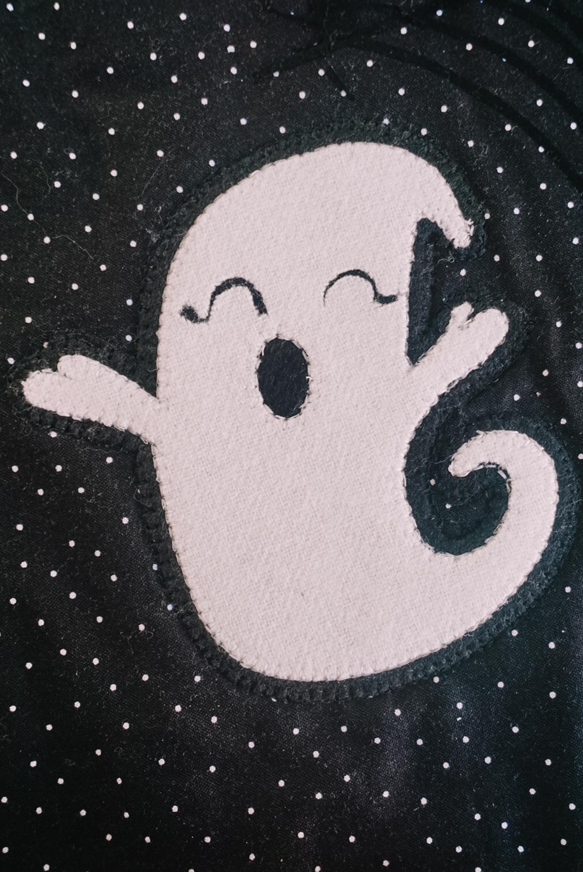 ghost felt appliqué