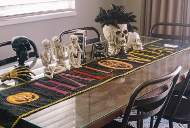 DIY Halloween Table Runner with The Silhouette Cameo 4