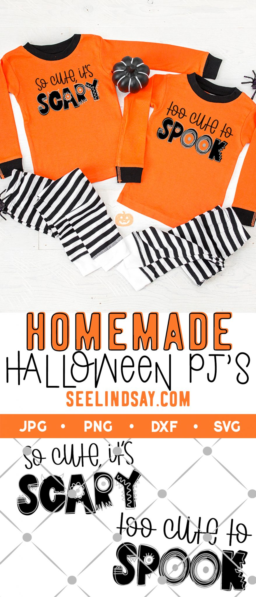 homemade halloween pajamas with free svg