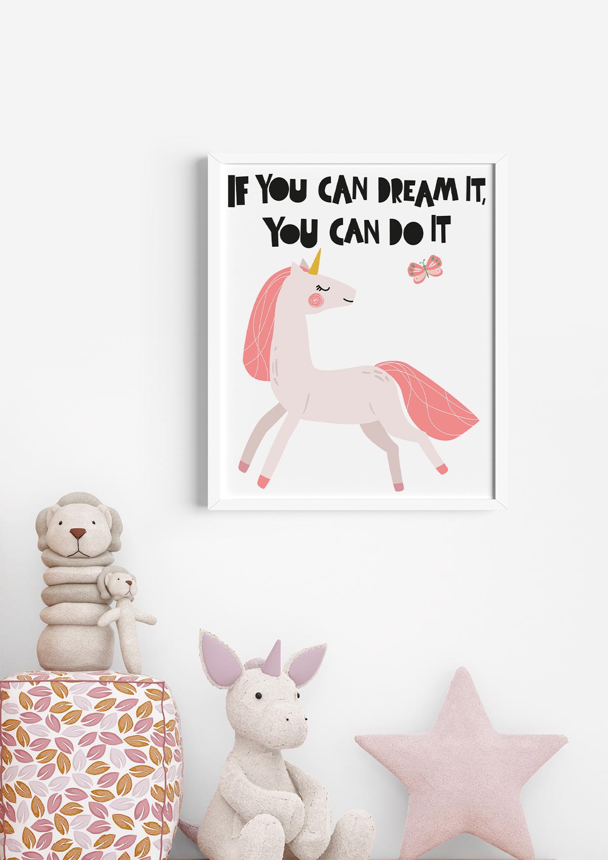 free unicorn wall art