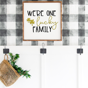 family svg on wood