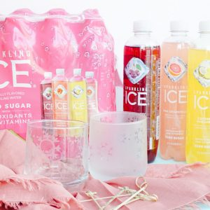 sparkling ice packaging by etched glasses