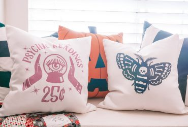 DIY Halloween Pillows using Infusible Ink