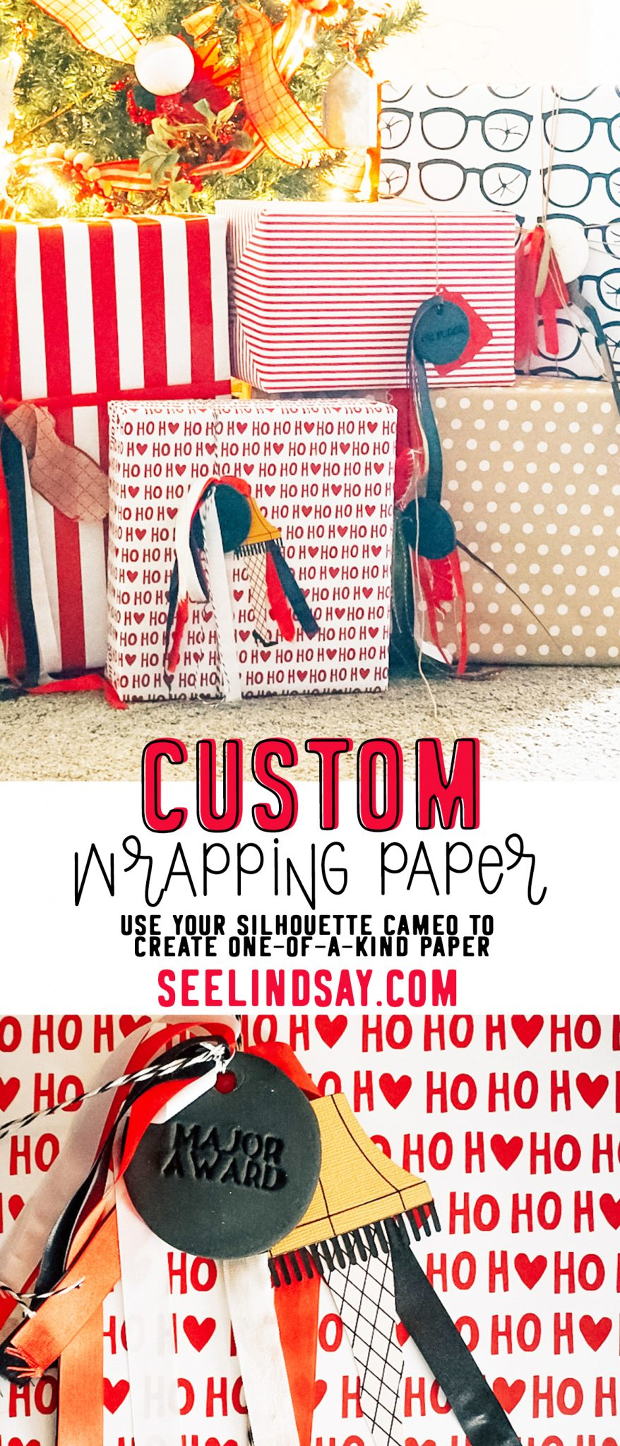 custom wrapping paper inspired by a christmas story