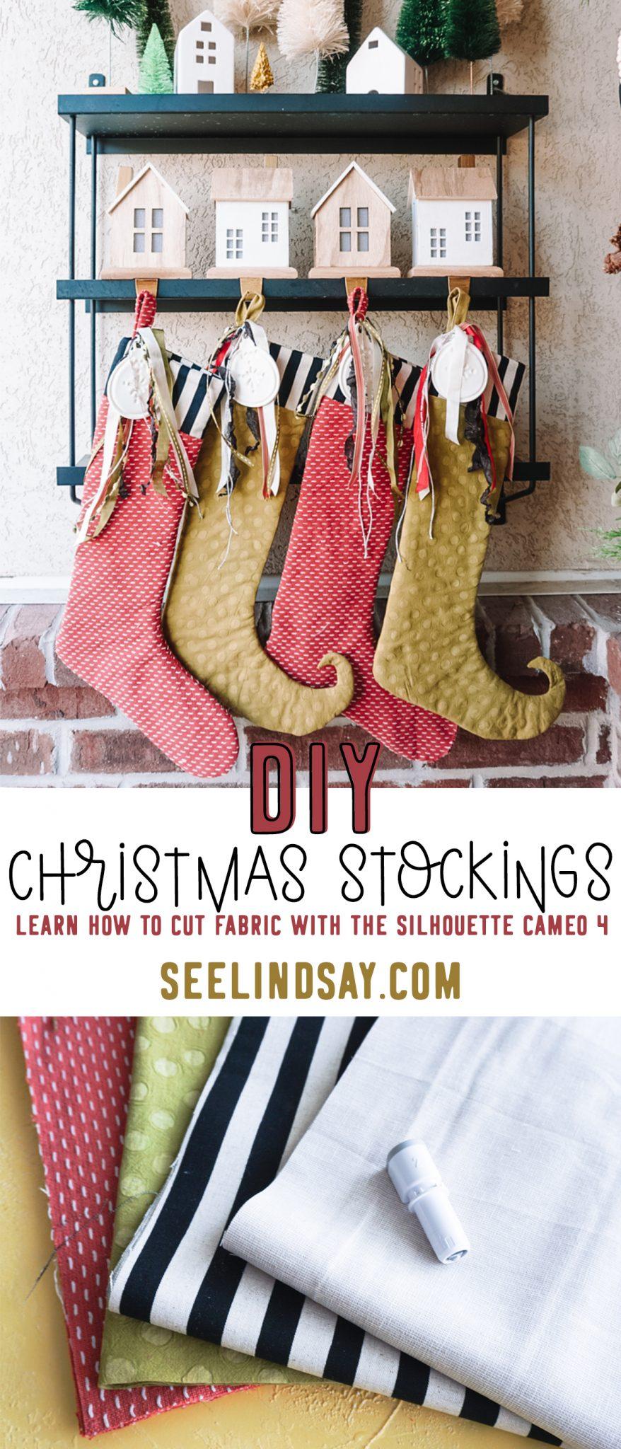 christmas stocking hanging outside