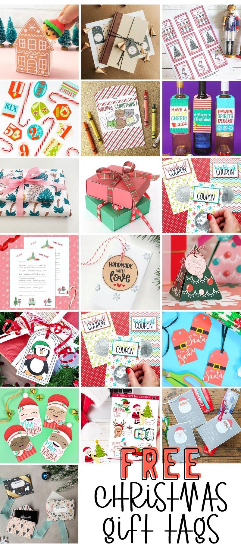 free christmas tag printables