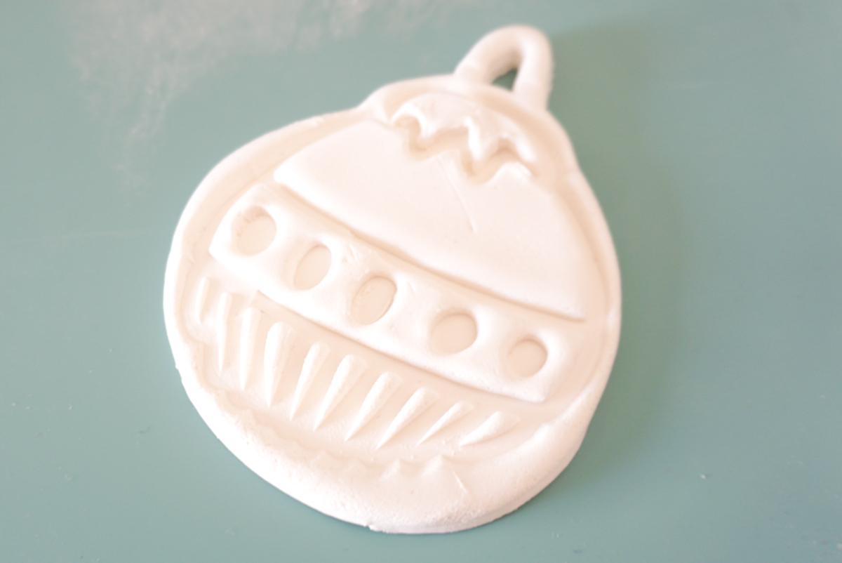 embossed clay ornament