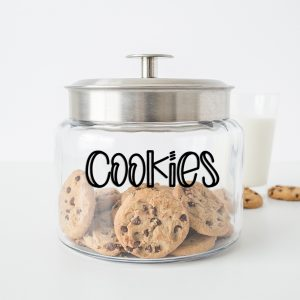 word cookies on cookie jar