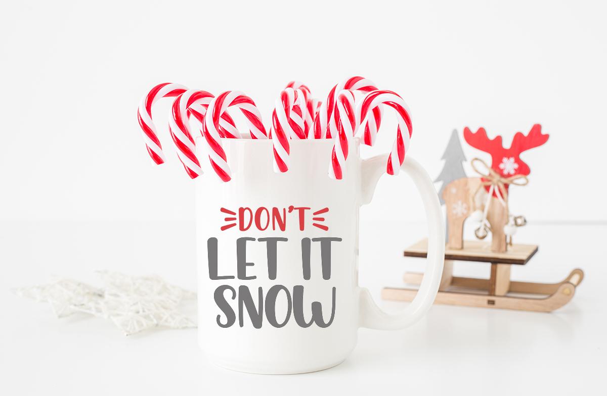 white coffee mug with snow svg