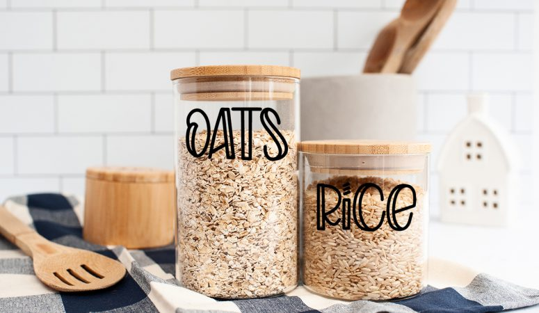 Making Pantry Labels with your Cricut – FREE SVG Files
