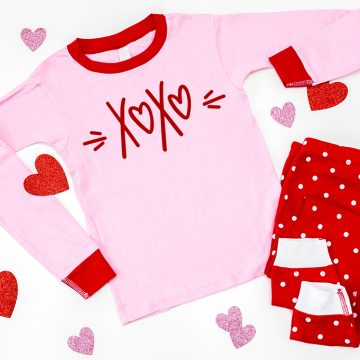 valentine pajamas with free svg file