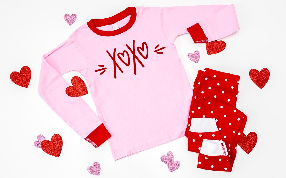 valentine pajamas with free svg file