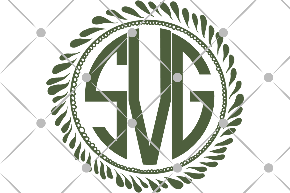 laurel wreath monogram