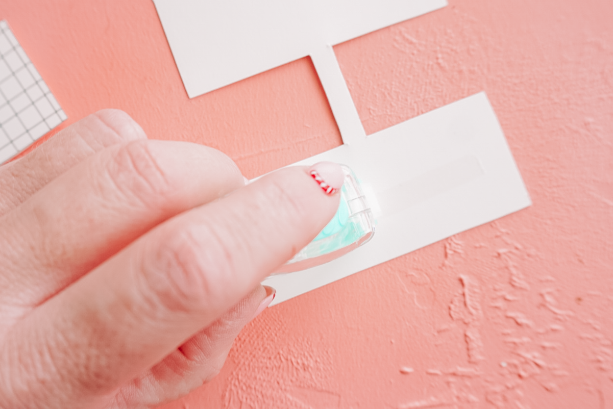 adhesive on cardstock