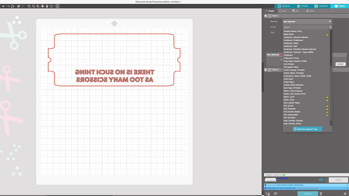 add new material in silhouette studio