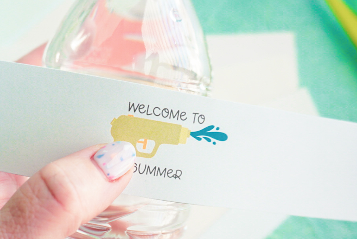 welcome to summer water bottle label wrap