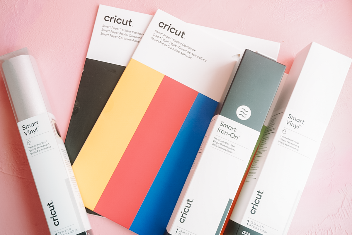 cricut smart materials on pink background