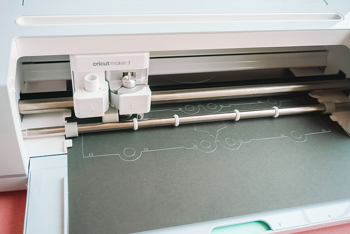 cutting cricut adhesive cardstock